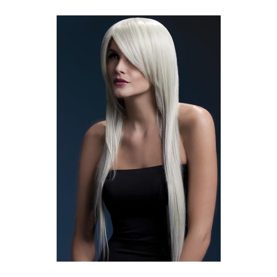 perruque long cheveux naturel blond cendr de 71cm. Black Bedroom Furniture Sets. Home Design Ideas