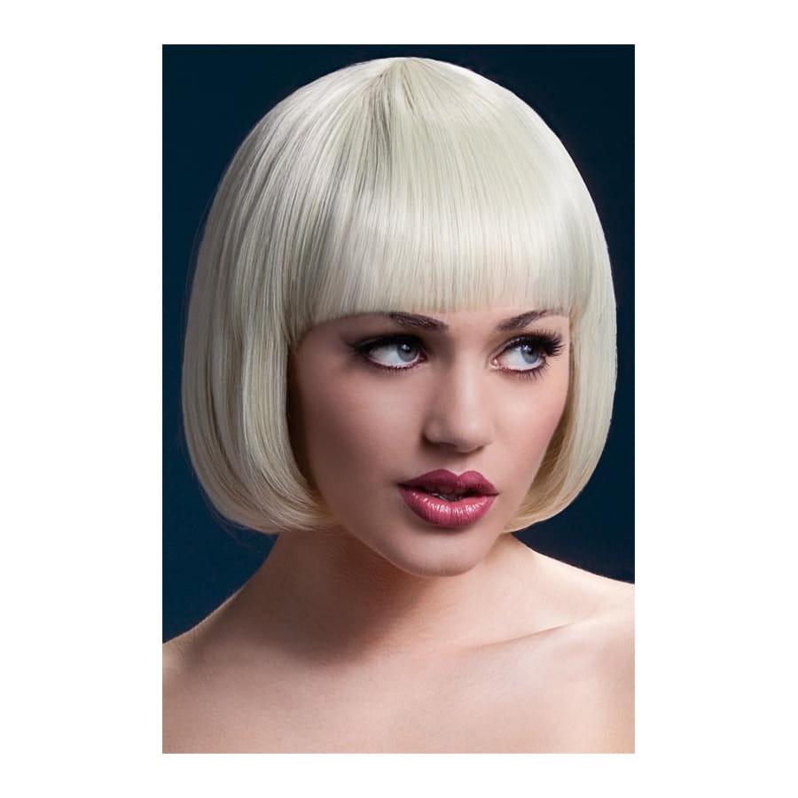 Perruque Mia carré blond court 25cm