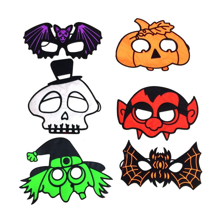 Petit masque halloween color pour adulte - Masque halloween a fabriquer ...