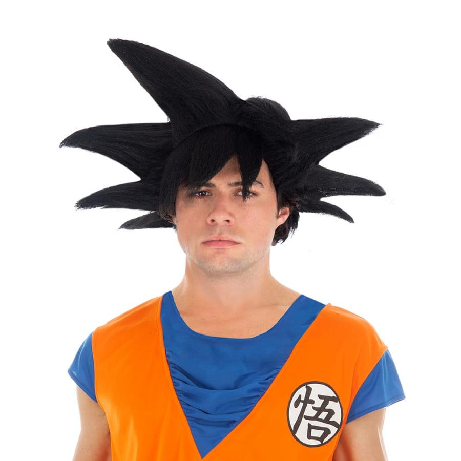 Perruque noire de Son Goku pour homme, Dragon