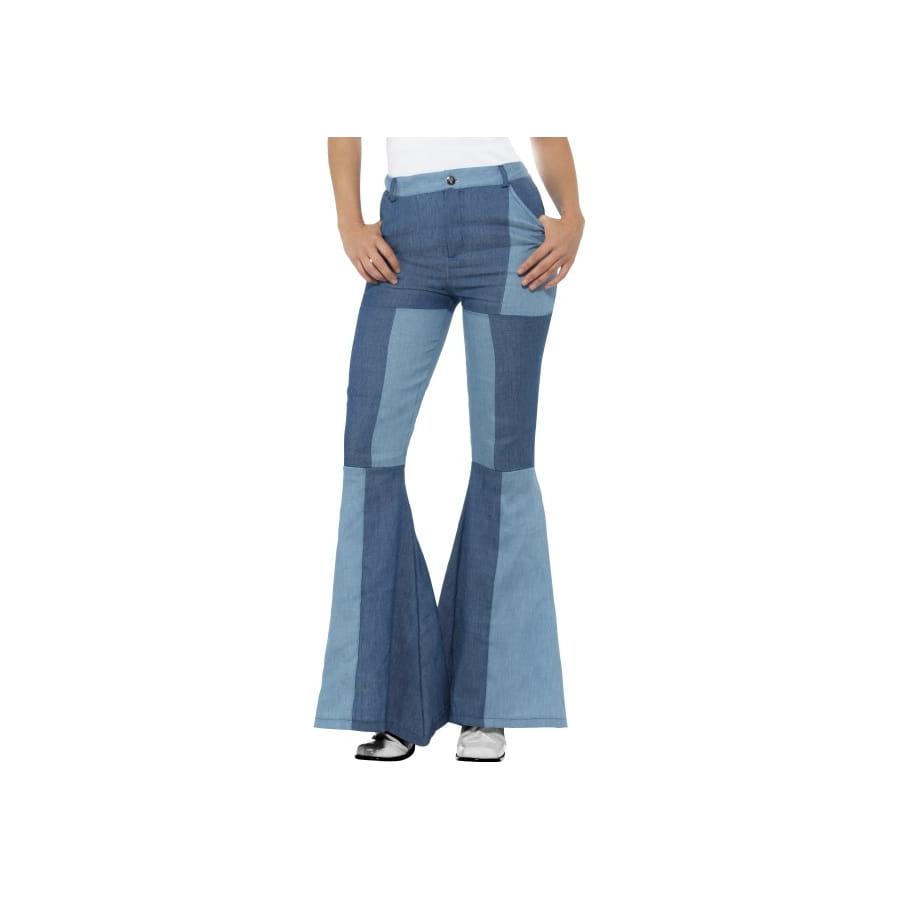 56eb472e0e1 Pantalon patte d eph patchwork jeans pour femme