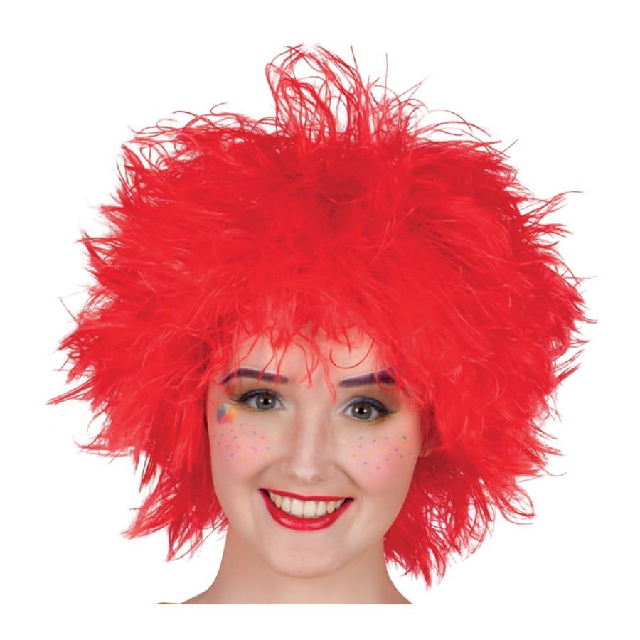 Perruque rouge ébouriffée de clown