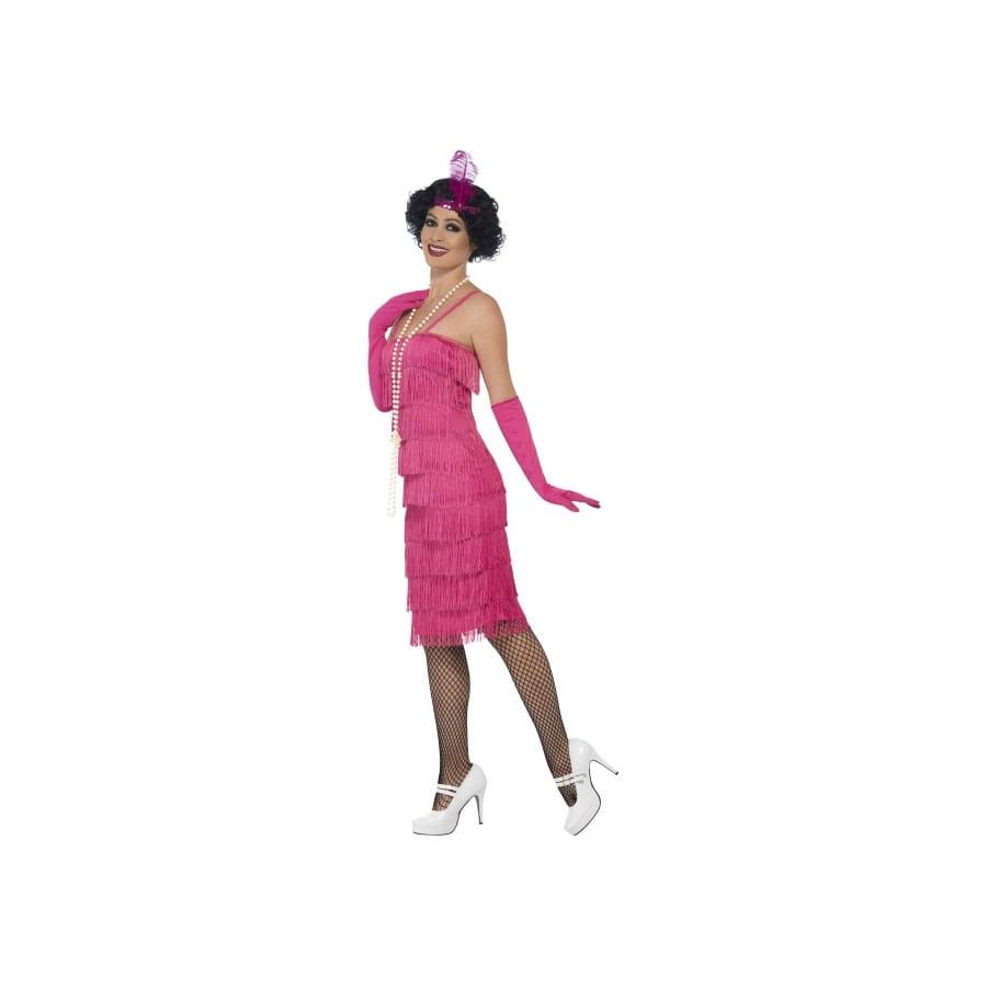 robe ann es 20 franges rose flappers. Black Bedroom Furniture Sets. Home Design Ideas