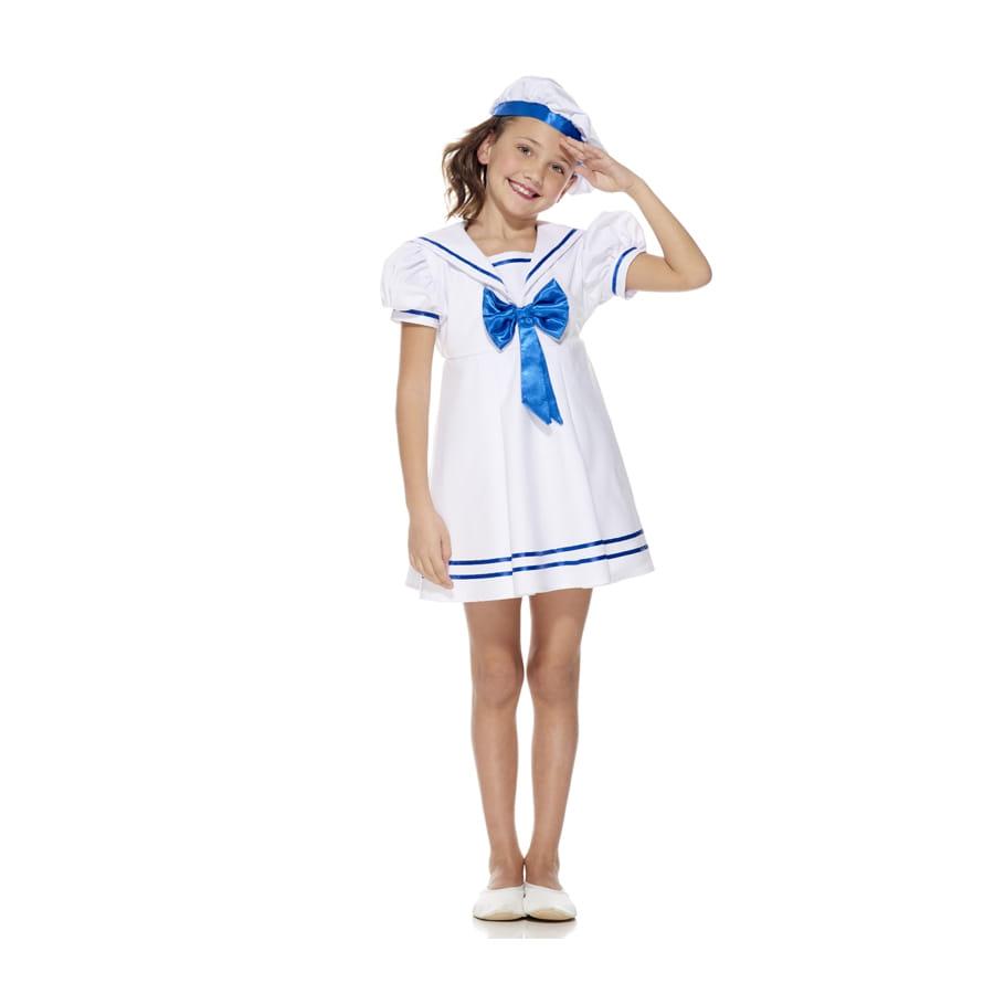 Robe blanche petite fille de la marine