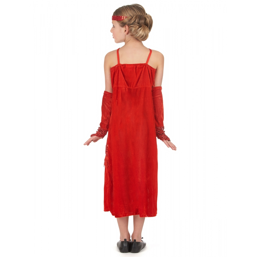 robe charleston rouge paillettes pour fillette. Black Bedroom Furniture Sets. Home Design Ideas