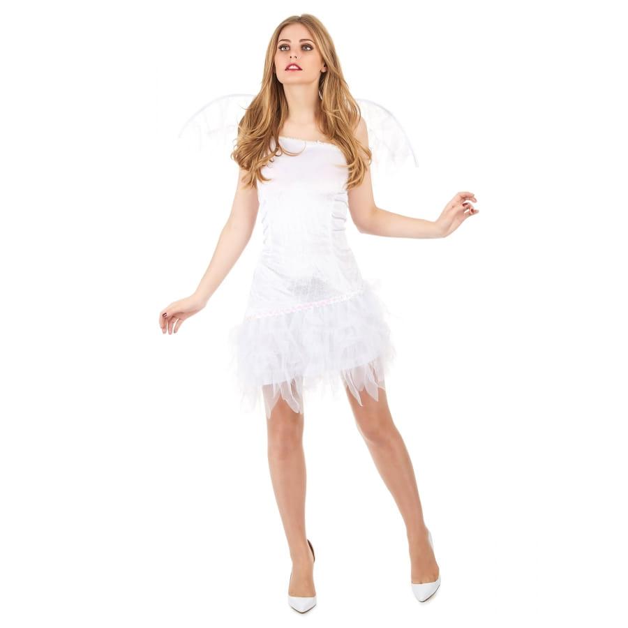 Robe d ange blanche avec petites ailes 4ec567145007