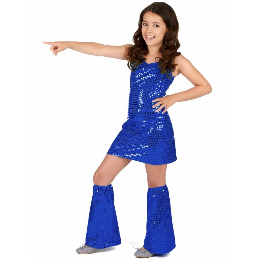 Robe Petite Disco Bleue Pour Fille W92IEDH