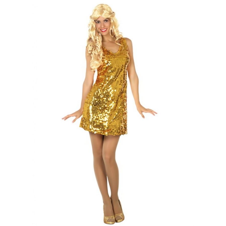 Dorée Femme Disco Robe Unie Pour bY7g6yvf