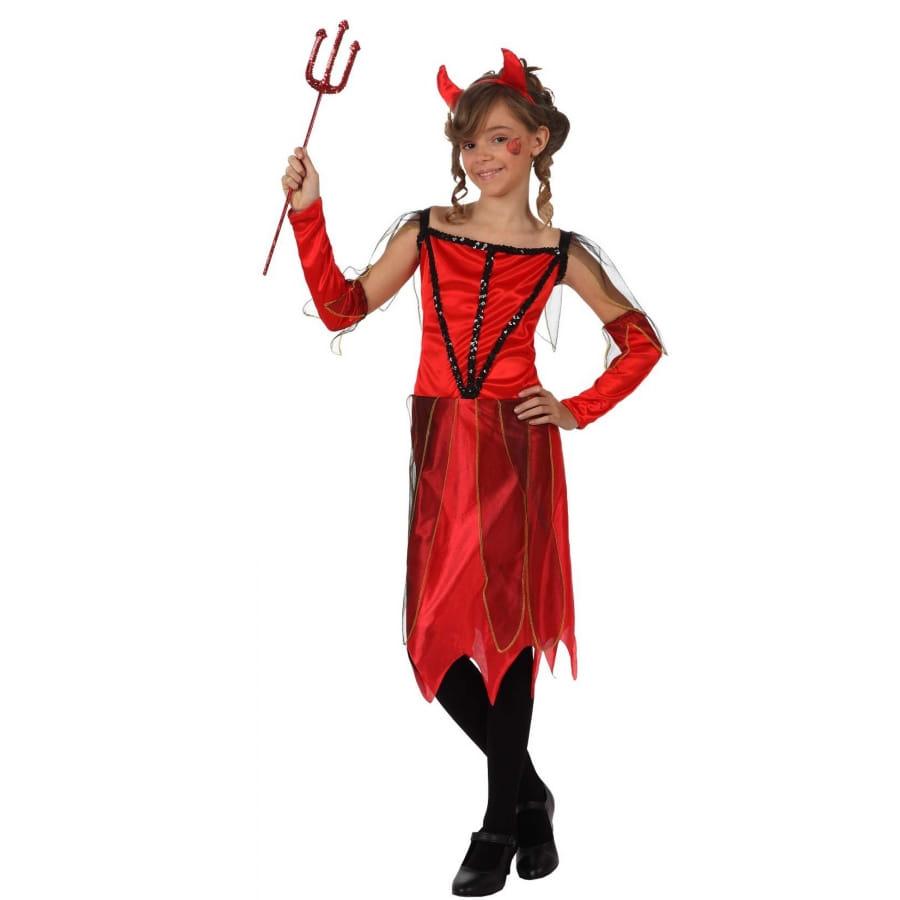 Robe de petite diablesse rouge pour fille - Petite diablesse ...