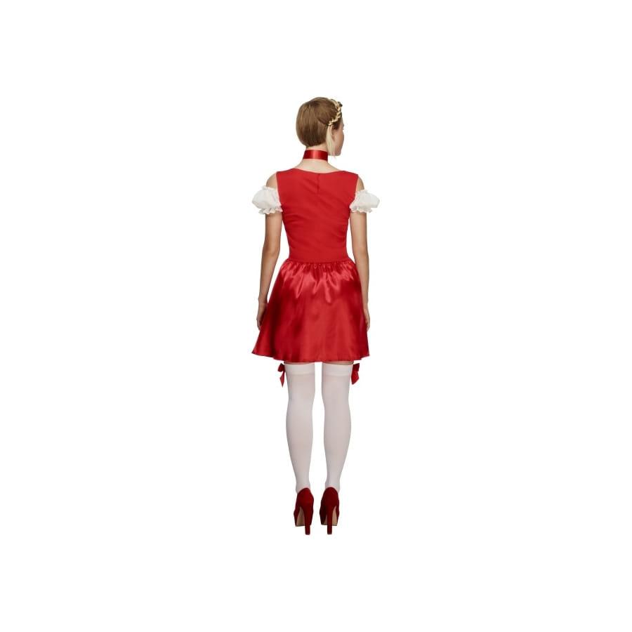 Robe dirndl verte et rouge de no l for Robe de noel rouge