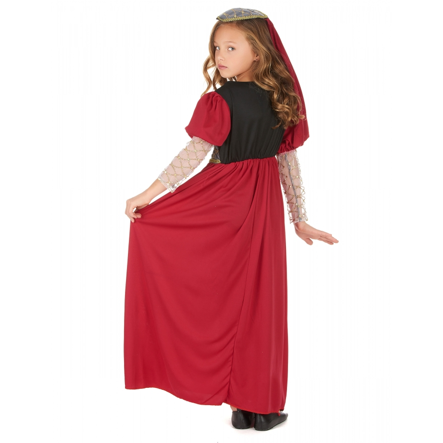 2edb7f528cc Robe rouge de princesse médiévale pour enfant
