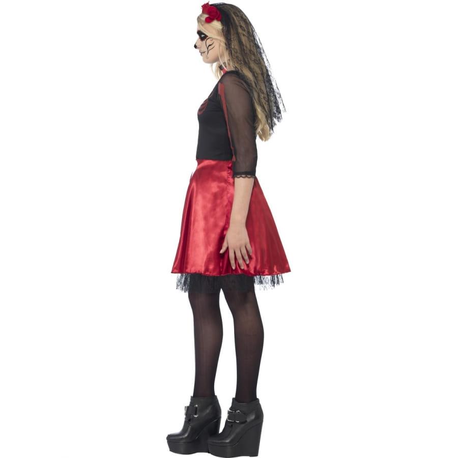 robe rouge jour des morts pour adolescente. Black Bedroom Furniture Sets. Home Design Ideas