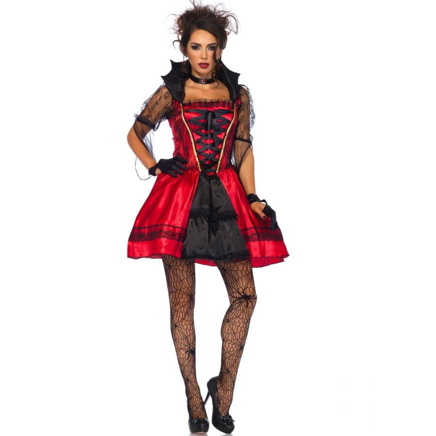 Robe Rouge Noire Gothique De Vampire