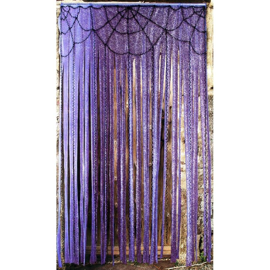 rideau violet avec toile d 39 araign e. Black Bedroom Furniture Sets. Home Design Ideas