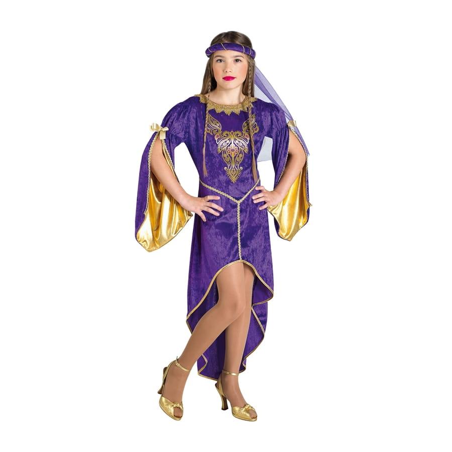 71ca3c9952c Robe violette de princesse médiévale pour enfant
