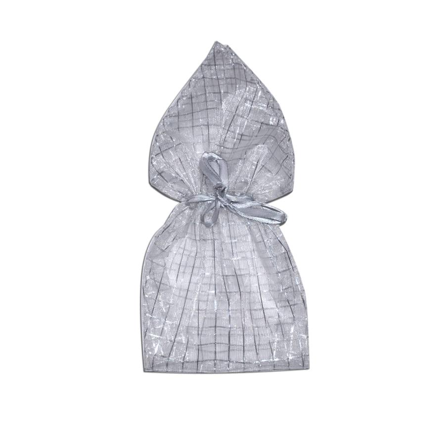 sac cadeau blanc argent en tissu. Black Bedroom Furniture Sets. Home Design Ideas