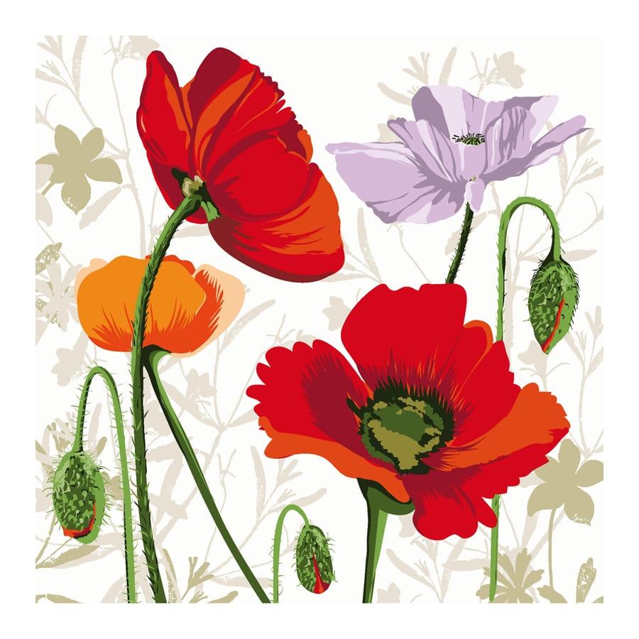 Serviettes d cor es de dessin de fleurs - Fleurs en dessins ...