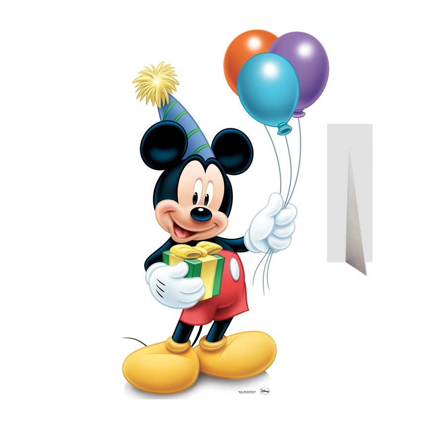 silhouette de mickey anniversaire en carton. Black Bedroom Furniture Sets. Home Design Ideas