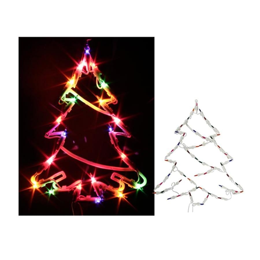 Deco De Noel Lumineuse Pour Fenetre silhouette de sapin de noël lumineuse