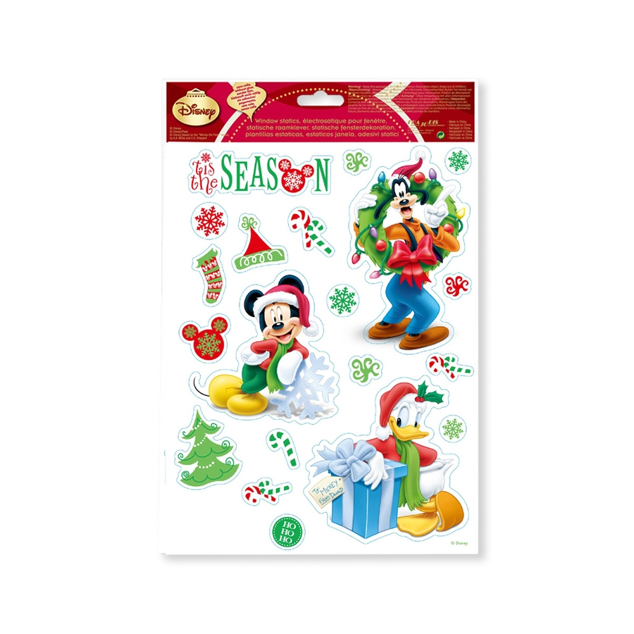 Stickers Mickey Electrostatiques Noel