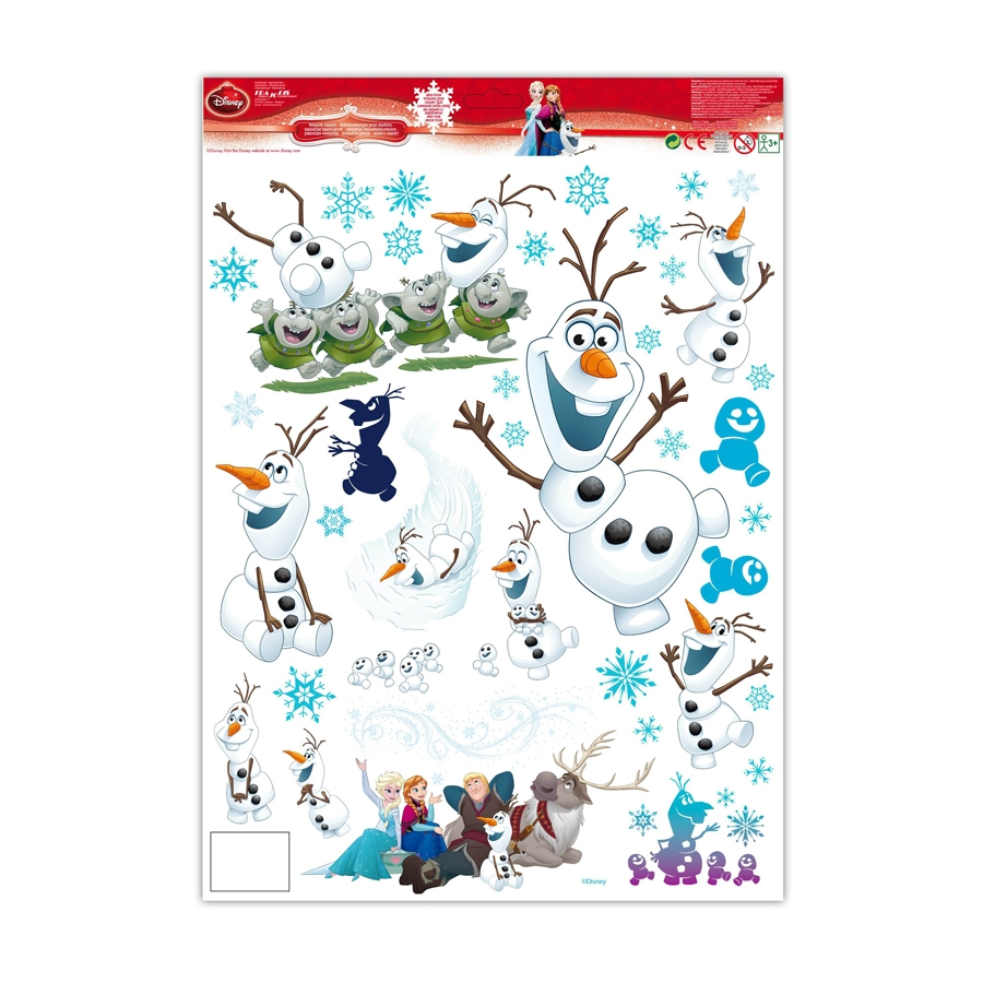 stickers olaf lectrostatiques reine des neiges. Black Bedroom Furniture Sets. Home Design Ideas