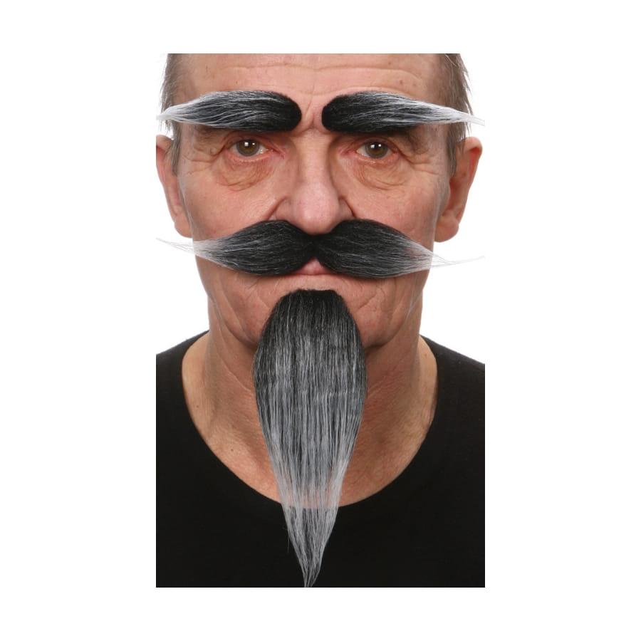 Bien-aimé petite barbe, moustaches, sourcils poivre sel IC52