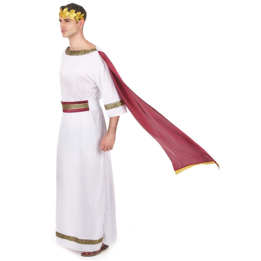 Tenue blanche de César avec toge rouge, image 1 4f1d7de91135