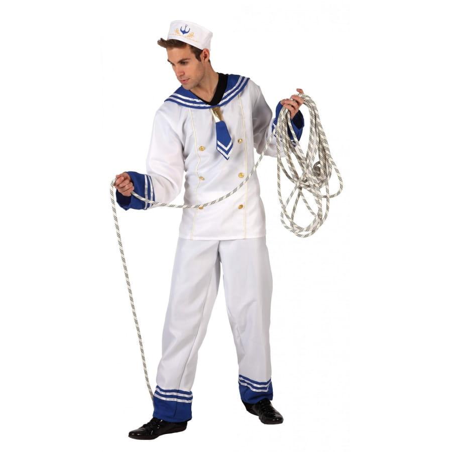 tenue blanche de marin pour homme adulte. Black Bedroom Furniture Sets. Home Design Ideas