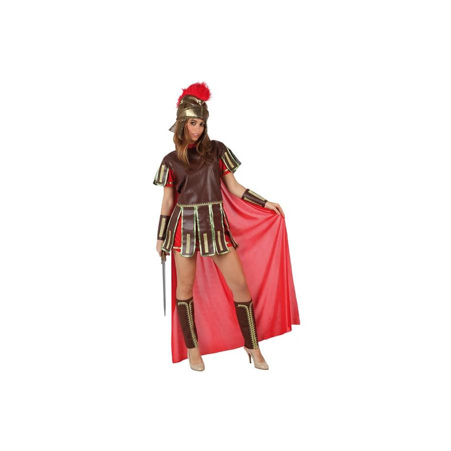 tenue de femme centurion avec cape rouge. Black Bedroom Furniture Sets. Home Design Ideas