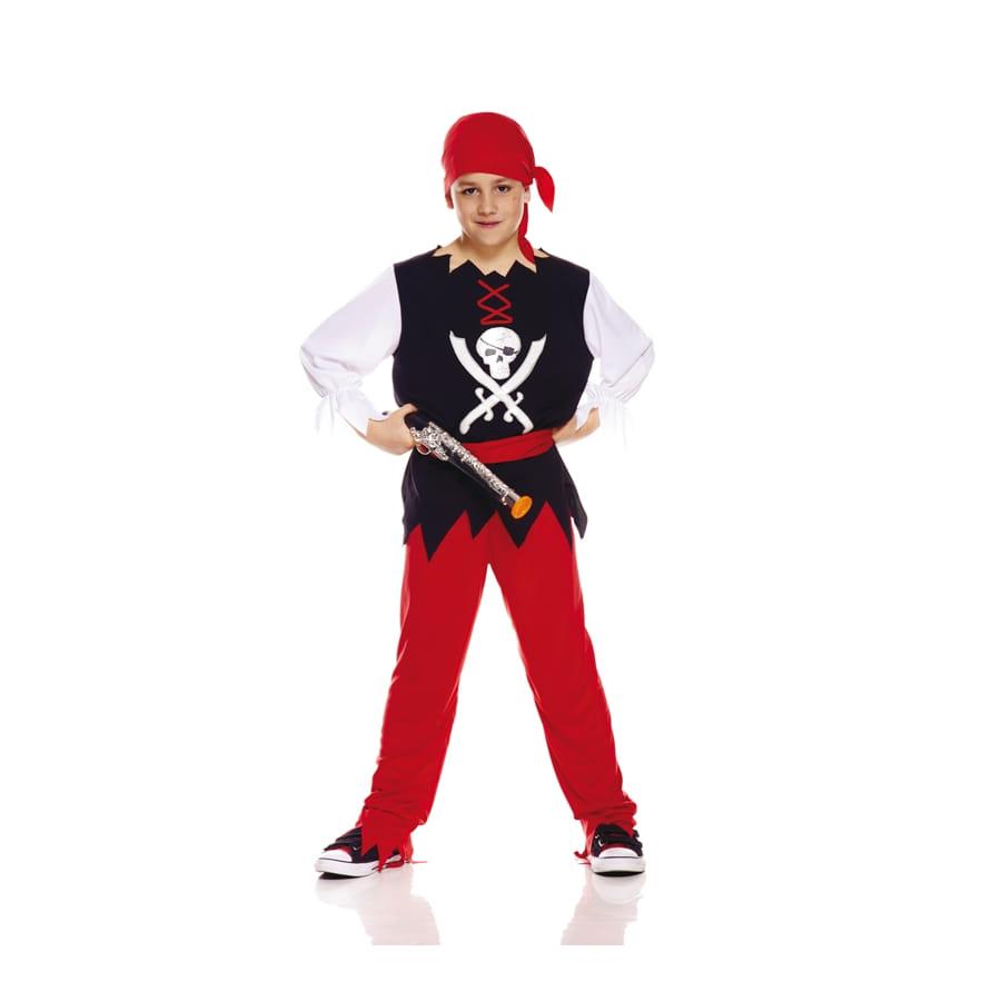 tenue de pirate noir et rouge pour enfant. Black Bedroom Furniture Sets. Home Design Ideas