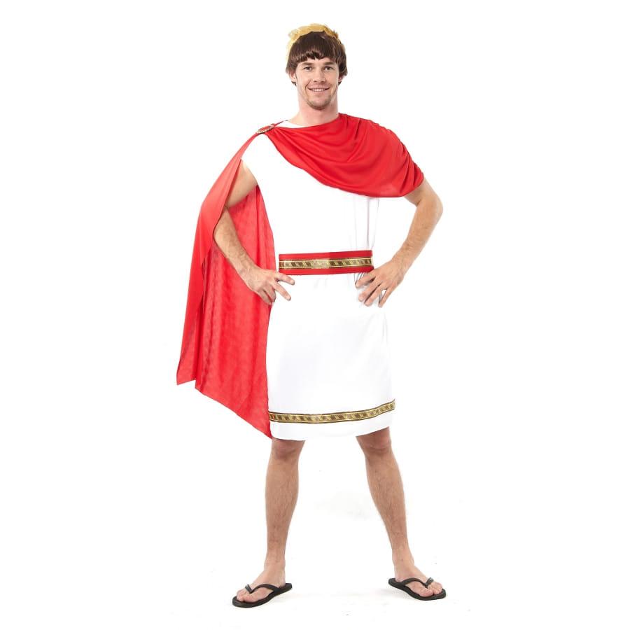 tenue de romain blanche avec cape rouge. Black Bedroom Furniture Sets. Home Design Ideas