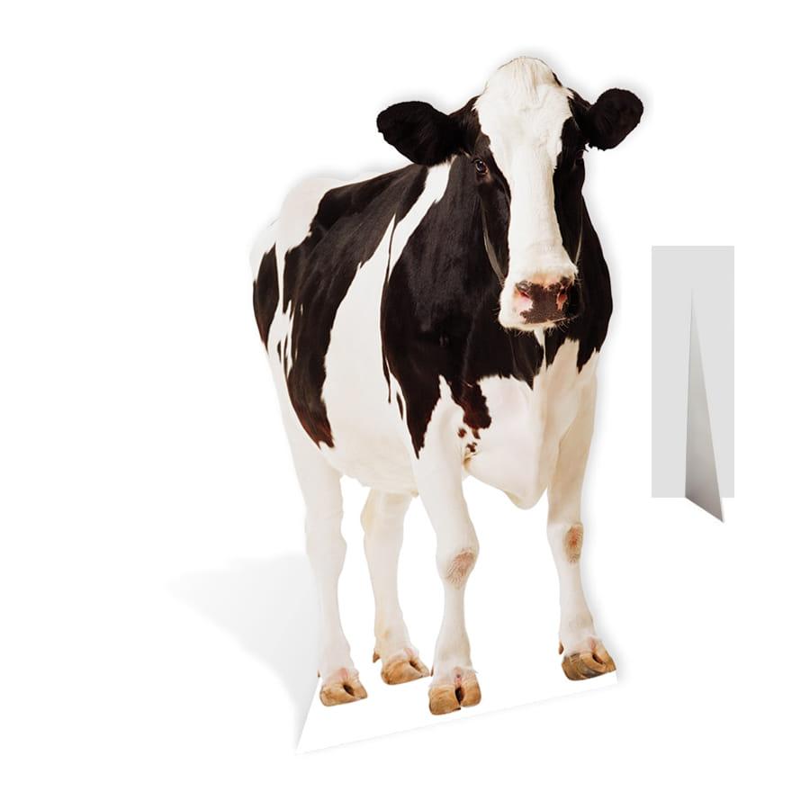 vache noire et blanche en carton plat. Black Bedroom Furniture Sets. Home Design Ideas