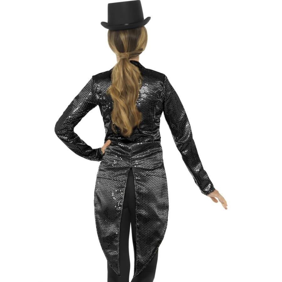 Femme De Sequins Noirs Veste Pie Queue À Pour Rw5x04q