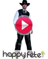 vidéo Costume de bandit armé du western