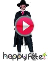 vidéo Costume de sheriff du western noir