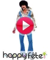 vidéo Combinaison en jean avec chemise 70's