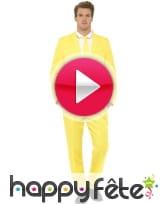 vidéo Costume jaune uni