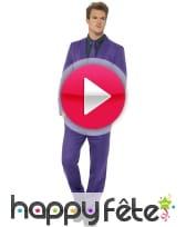 vidéo Costume violet uni