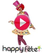 vidéo Déguisement clown femme