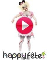 vidéo Déguisement de minie zombie pour femme