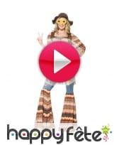 vidéo Déguisement femme hippie Harmony