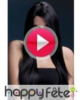 vidéo Perruque avec meche dégradée noire