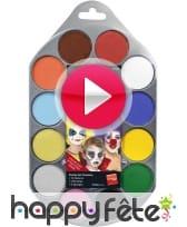 vidéo Palette peinture 12 couleurs